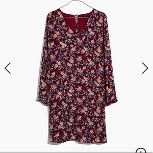 Madewell Button Back Dress in Antique Flora